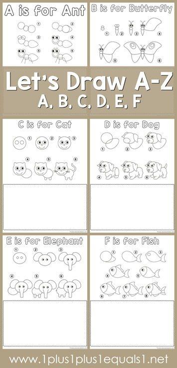 Lets-Draw-Printables-Letter-A-B-C-D-E-F