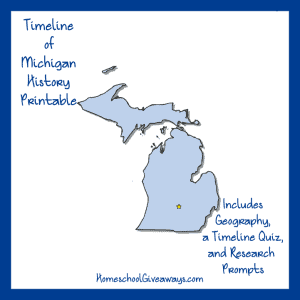 Michigan History Printable