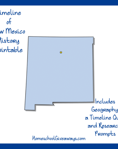 New Mexico History Printable