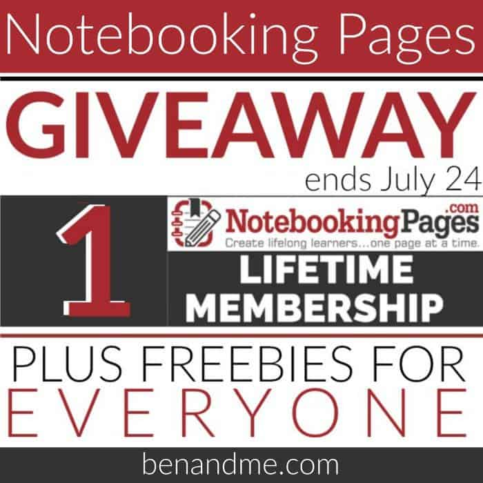 Notebooking Pages Giveaway FB