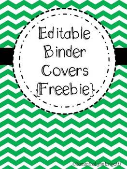 Free printable editable binder covers for Teaching portfolio template free