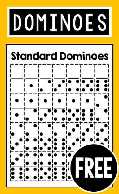 Current image inside printable dominos