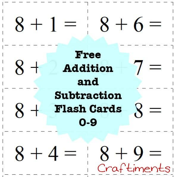 Critical image pertaining to math flash cards printable
