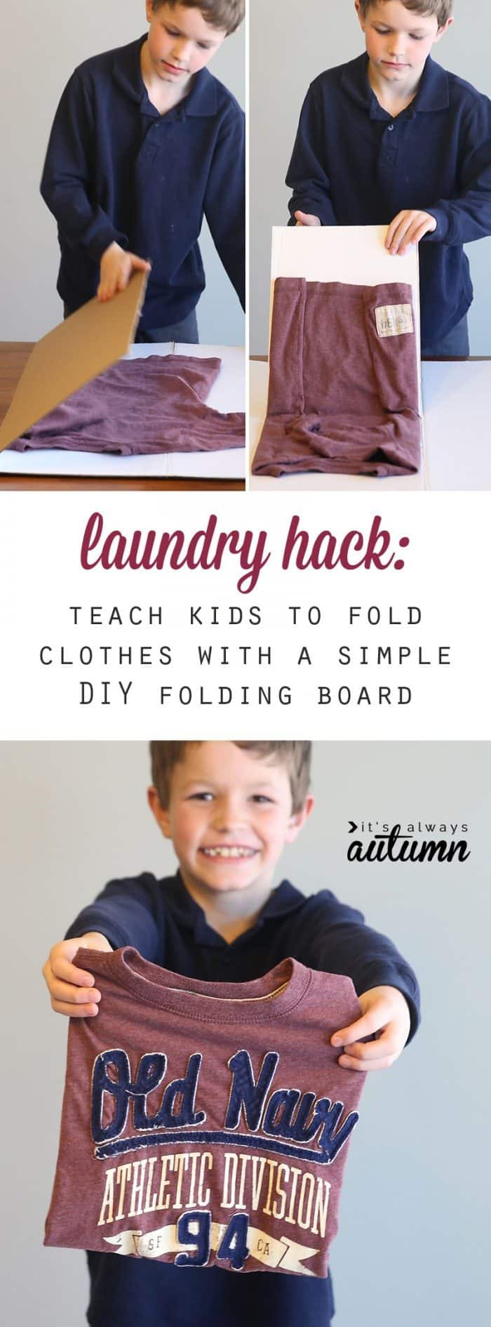 laundry-hack-kids-how-to-teach-children-to-fold-laundry-diy-folding-board-1