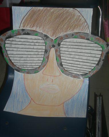 sunglasses summer self portrait 3rd grade - HD1200×1600