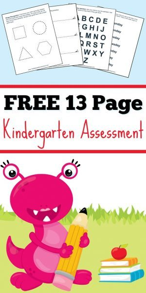 Free Kindergarten Assessment