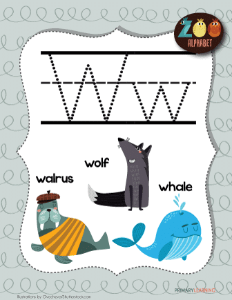 Letter-W-Animals-Printable-Poster