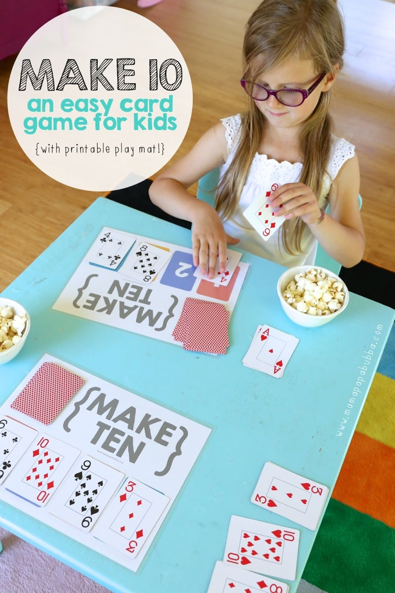 graphic regarding Making 10 Games Printable named Produce 10 Card Activity with Cost-free Printable Engage in Mat - Homeschool
