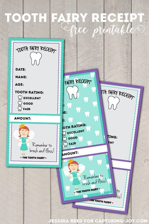 FREE Printable Tooth Fairy Receipt - Homeschool Giveaways