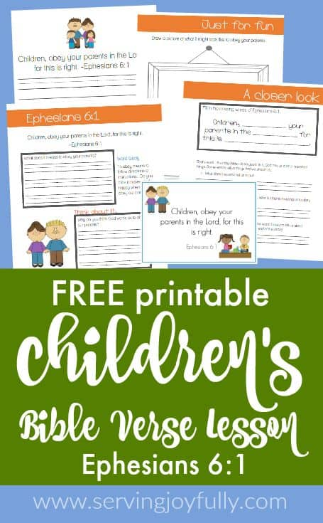 picture regarding Free Printable Children's Bible Lessons called Free of charge Printable Childrens Bible Verse Lesson - Homeschool