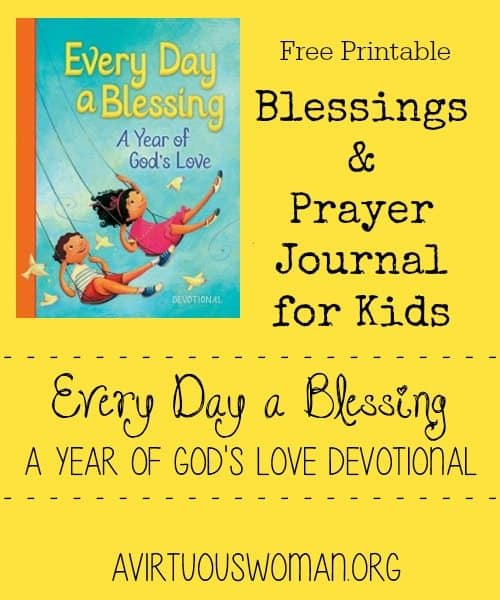 FREE Printable Blessings and Prayer Journal for Kids ...