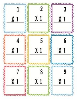free printable multiplication flash cards homeschool giveaways. Black Bedroom Furniture Sets. Home Design Ideas