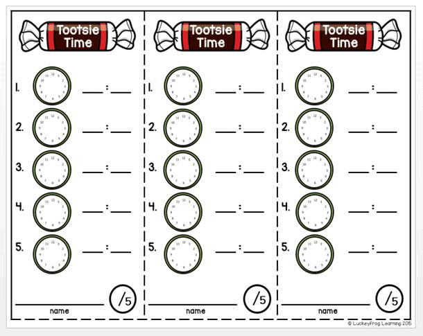 Free Printable Tootsie Time Worksheets