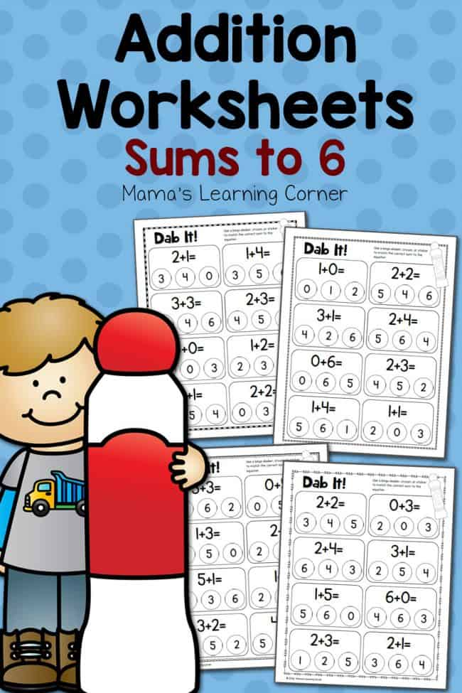 Dab-It-Addition-Worksheets-Sums-to-6-650x975