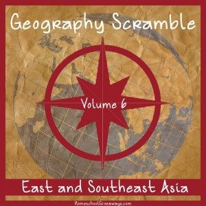 Geography Scramble Vol 6 East and Southeast Asia