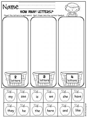 Free Printable Counting And Sorting Worksheet
