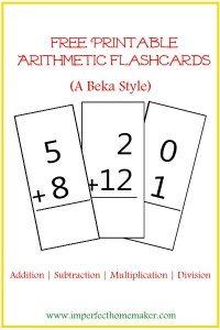 arithmetic-flashcards
