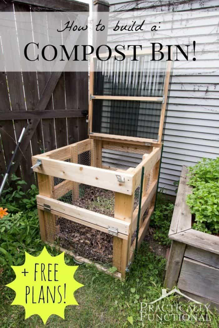 how to build a compost bin free plans. Black Bedroom Furniture Sets. Home Design Ideas