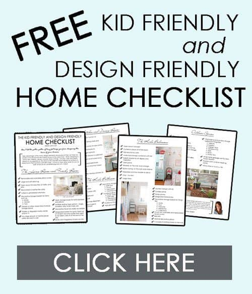 Free printable kid friendly and design friendly home checklist for Home design checklist