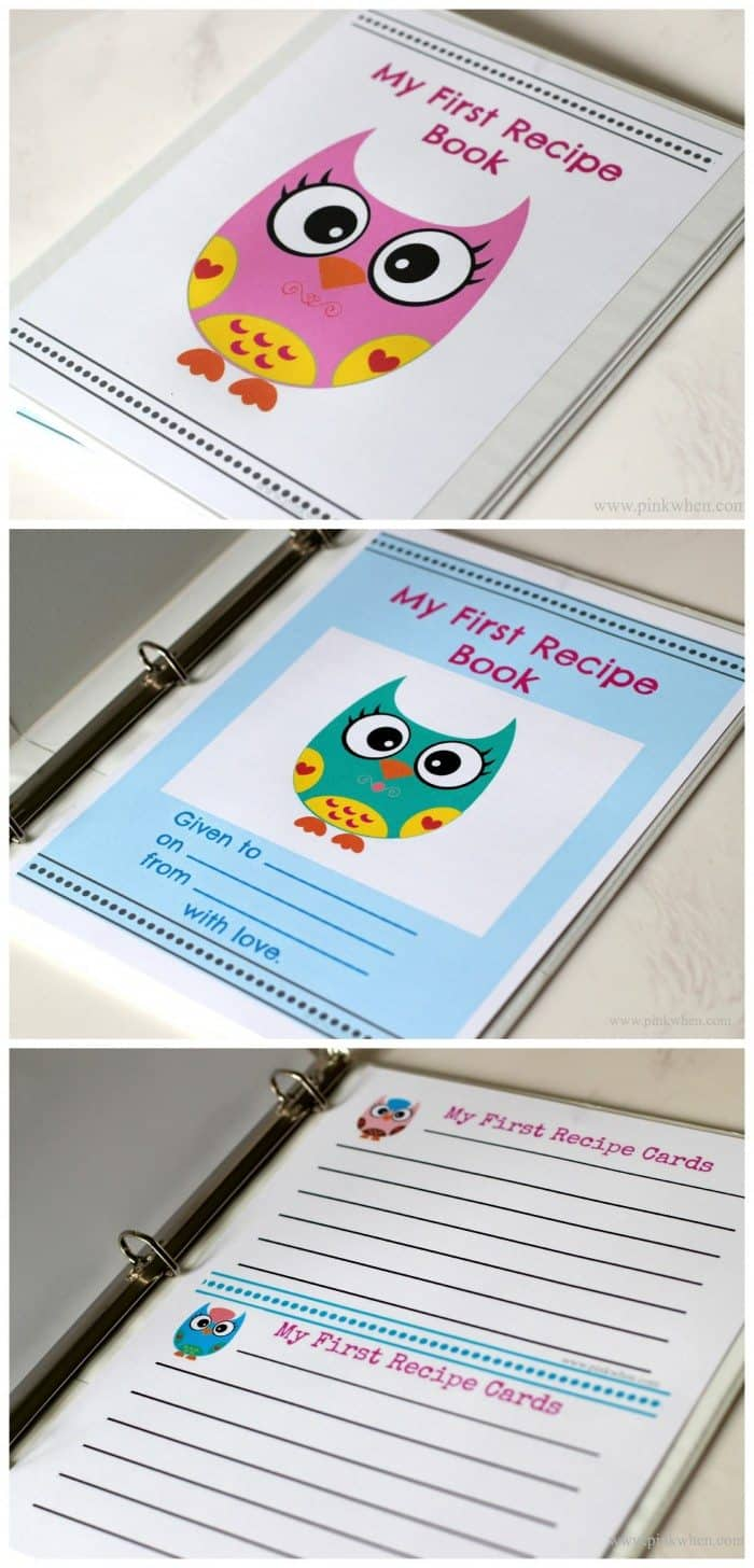 my first recipe book with free printables