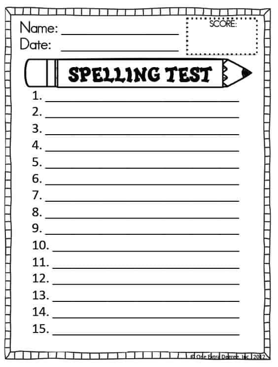 This is an image of Massif Printable Spelling Worksheets