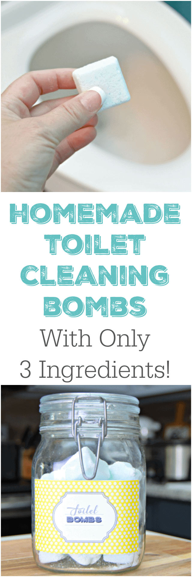 3 Ingredient Homemade Toilet Cleaning Bombs With Free