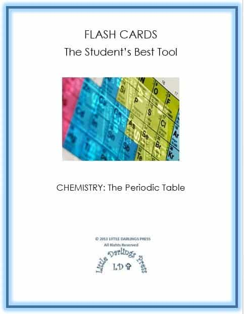 Free periodic table of elements chemistry flash cards with 118 elements to memorize in the periodic table making and using flash cards helps students learn review and remember the symbols and names of all urtaz Choice Image