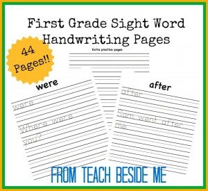 First-grade-sight-word-handwriting-1024x938