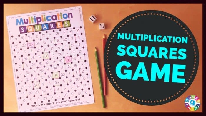 Of turning the squares game into a multiplication practice game
