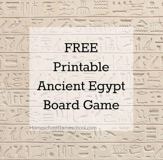 Free Home Design Create Play Educational Quiz Games: FREE Printable Ancient Egypt Board Game