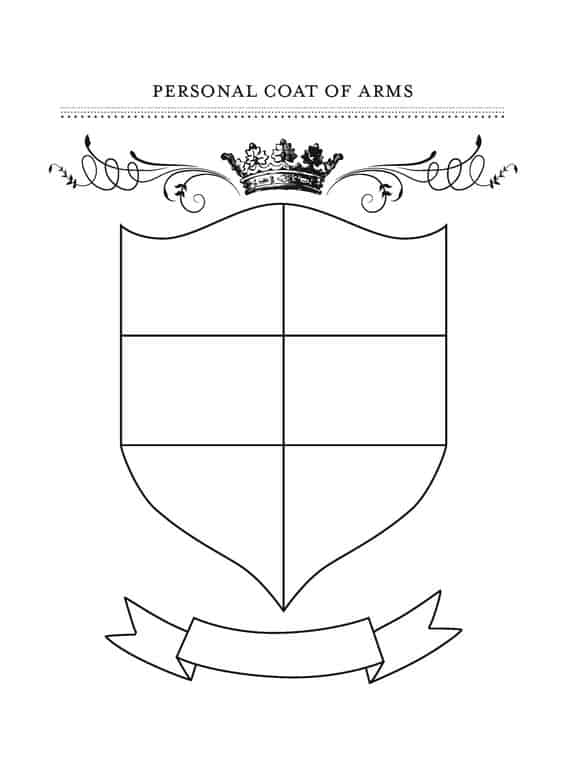free printable coat of arms template