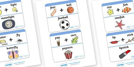 This is an image of Remarkable Printable Compound Word Games