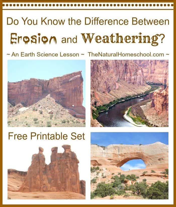 free weathering vs erosion earth science printable. Black Bedroom Furniture Sets. Home Design Ideas