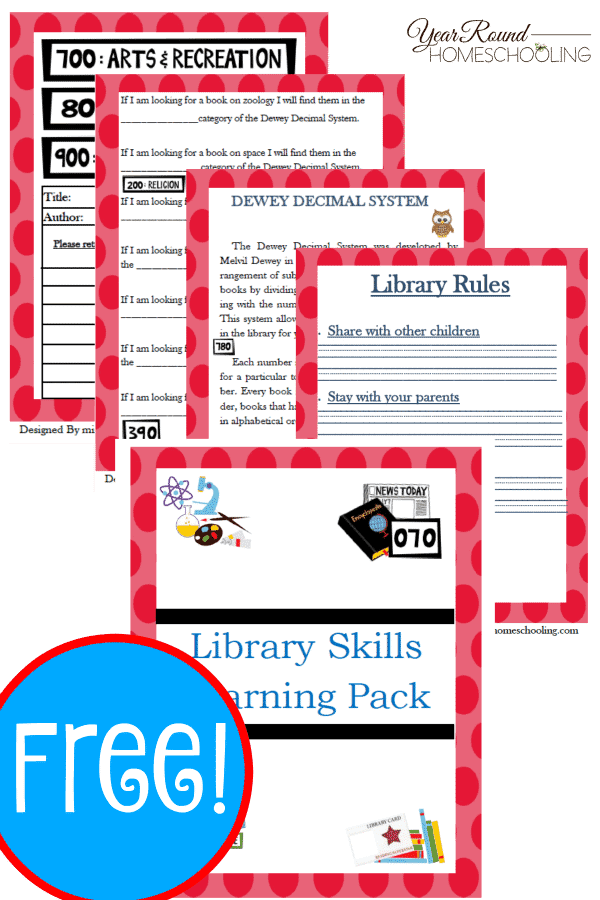 It's just a picture of Invaluable Library Activity Worksheets
