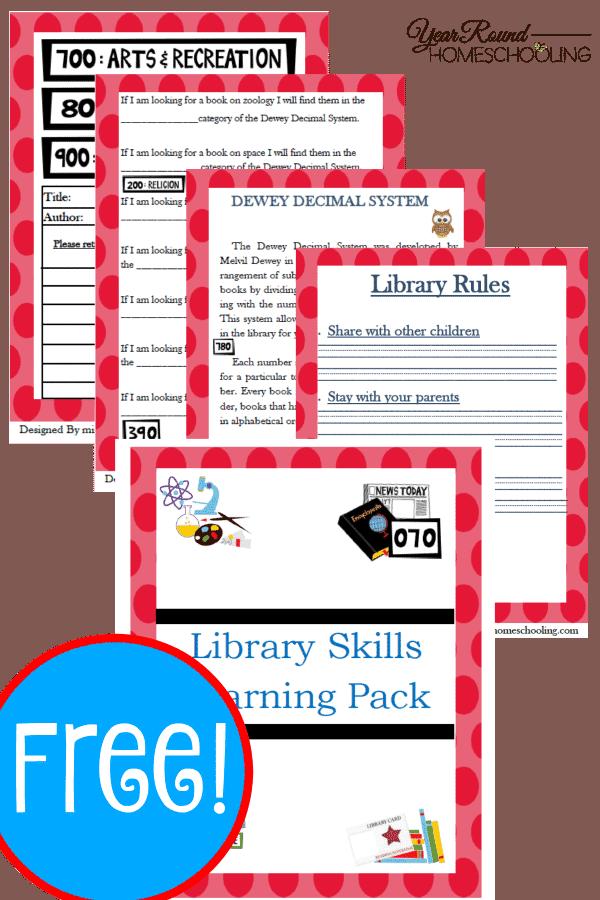 free library skills printable pack. Black Bedroom Furniture Sets. Home Design Ideas