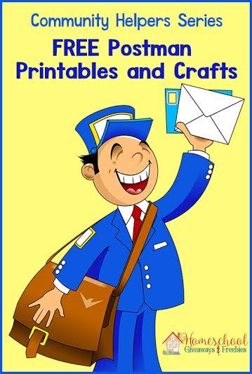 community helper series postman printables and crafts homeschool