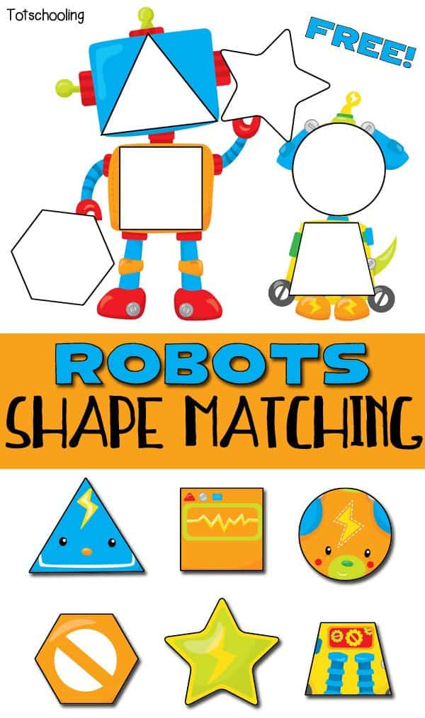 free robot shape matching puzzles homeschool giveaways. Black Bedroom Furniture Sets. Home Design Ideas