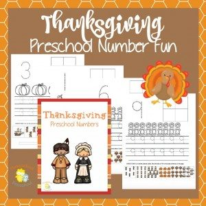 Thanksgiving PreK Numbers