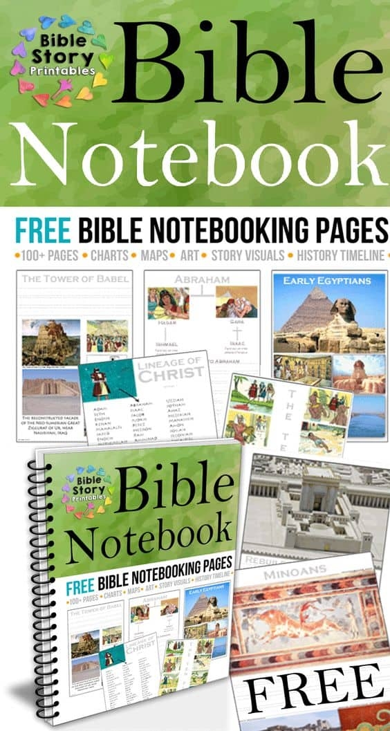 FREE Printable Bible Notebooking Pages