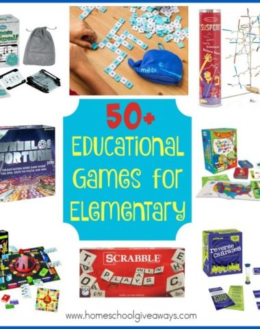 Playing games can be fun and educational at the same time. It is a great way to take a break from the normal day-to-day schoolwork, yet still work on their studies. These are some of our favorite Educational Games for Elementary ages. :: www.homeschoolgiveaways.com