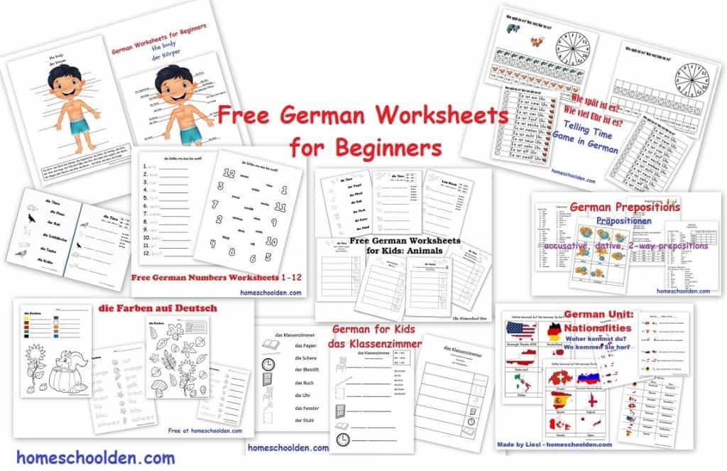 free german worksheets for beginners homeschool giveaways. Black Bedroom Furniture Sets. Home Design Ideas