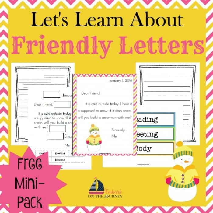 pictures books to teach writing a friendly letter