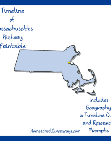 Massachusetts History Printable