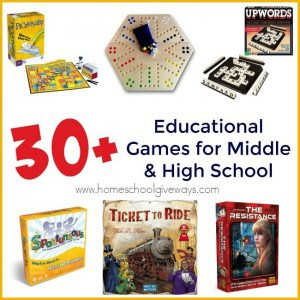 Even Middle and High Schoolers love to play games, so why not make them Educational too! Check out some of our favorite games that can reinforce math, spelling, logic, music and more! :: www.homeschoolgiveaways.com