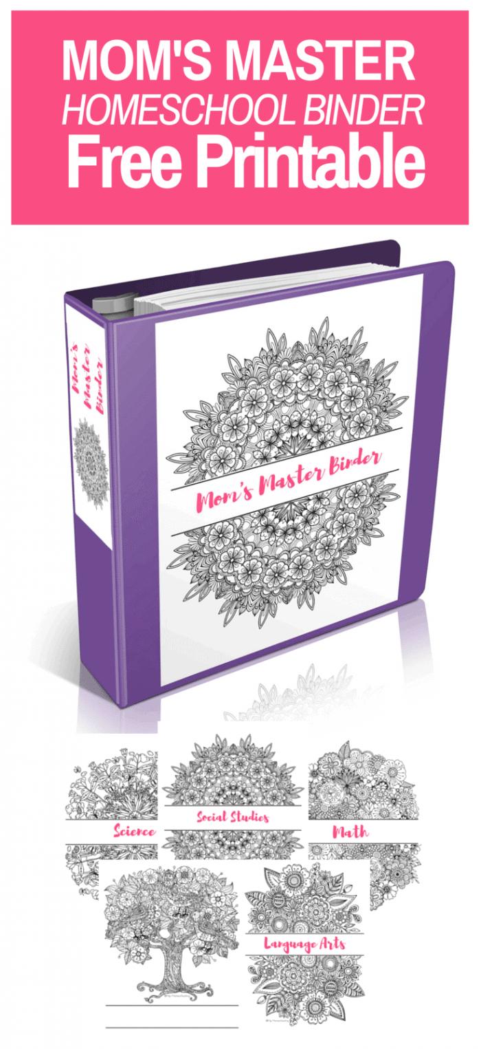 free printable mom s master homeschool binder homeschool giveaways