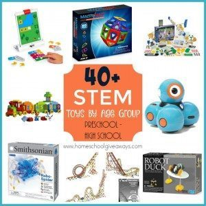 If you have a child or children that love STEM activities, check out some of our favorite STEM Toys! STEM is a great way to include hands-on learning for kids of all ages. :: www.homeschoolgiveaways.com