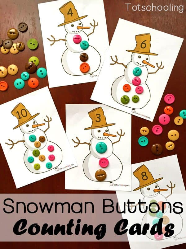 Snowman-Buttons-Counting-Cards