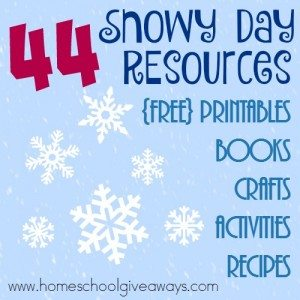 Winter is here and that means snow for many parts of the northern hemisphere. These Snowy Days resources are perfect for those days that are too cold to play outside! :: www.homeschoolgiveaways.com
