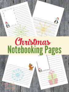 christmas-notebooking