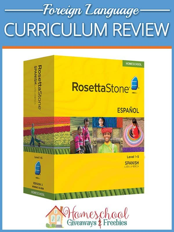 Rosetta Stone Curriculum Review